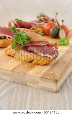 French Toast With Jamon