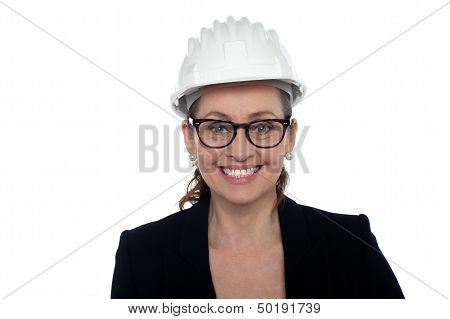 Portrait Of A Bespectacled Female Architect