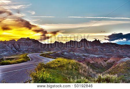 Famous Badlands Road