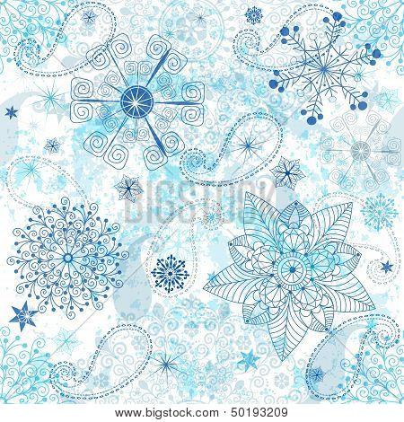 Christmas White-blue Seamless Pattern