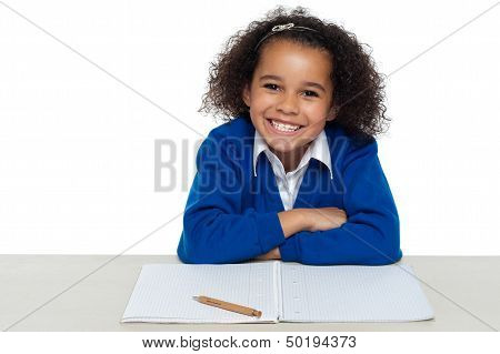 Enthusiastic Student Paying Attention In The Class