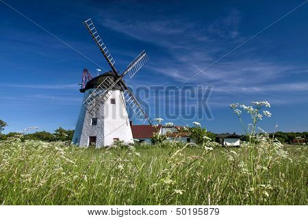 Windmill Myreagre Molle On Bornholm