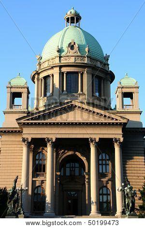 Parliament Building In Belgrade, Serbia