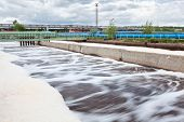 stock photo of wastewater  - Volumes for oxygen aeration in wastewater treatment plant - JPG