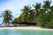 pic of dhoni  - Restaurant on the beach in the Maldives Indian Ocean - JPG