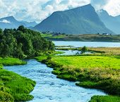 picture of fjord  - Norway landscapes - JPG