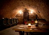 stock photo of wine cellar  - Close - JPG