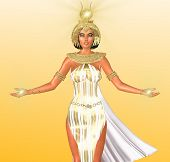 stock photo of goddess  - The White Light of Egypt - JPG