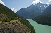 Постер, плакат: Diablo Lake Cascades Mountains