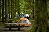 stock photo of travel trailer  - The Campground  - JPG