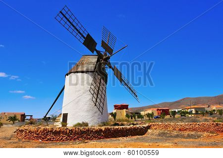 old windmill in Antigua, Fuerteventura, Canary Islands, Spain