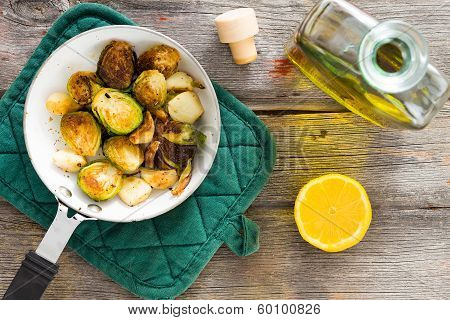 Delicious Sauteed Brussels Sprouts With Olive Oil