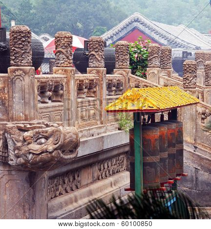 Fragments Of The Famous Puning Temple In Chengde, China