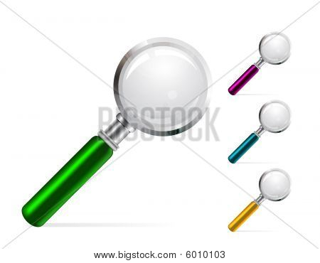 Magnifier color vector illustration