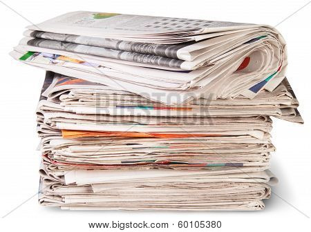 Stack Of Newspapers And The Roll
