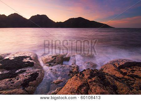Earlier morning at Coles Bay, Freycinet National Park, Tasmania, Australia