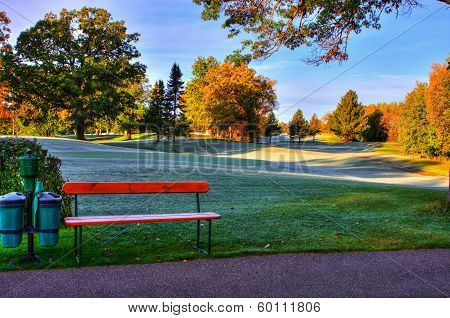 Fall Colors At The Golf Course.