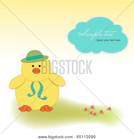 Customizable Greeting Card With Duck