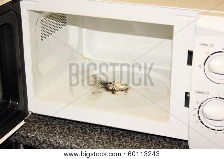 Burnt out microwave