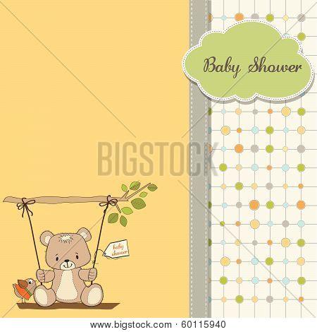 Baby Greeting Card With Teddy Bear