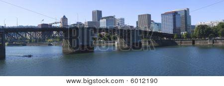 The Burnside Bridge Portland Oregon.