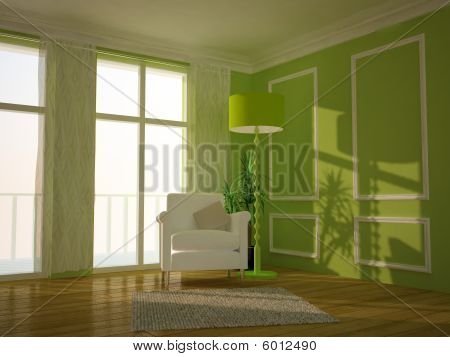 A modern designed lounge room
