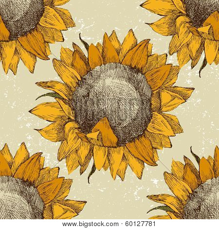 Sunflowers Print Roller Blinds Luxury Blinds Direct