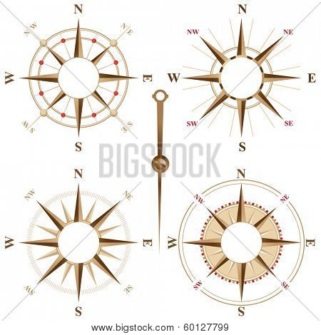 Vintage compass icons with place for your text inside