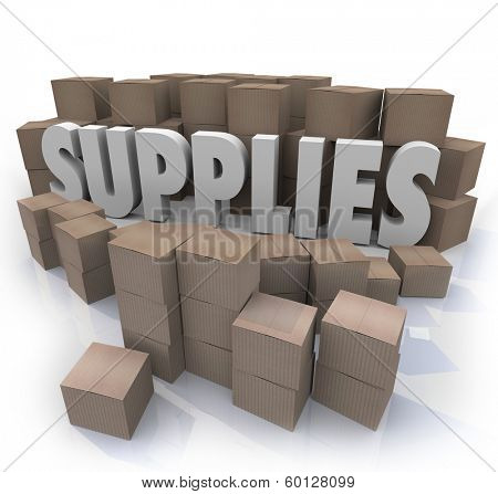 Supplies Cardboard Boxes Food Materials Resources Needed