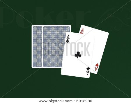 Pocker Cards With 2 Aces