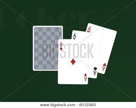 Pocker Cards With Three Aces