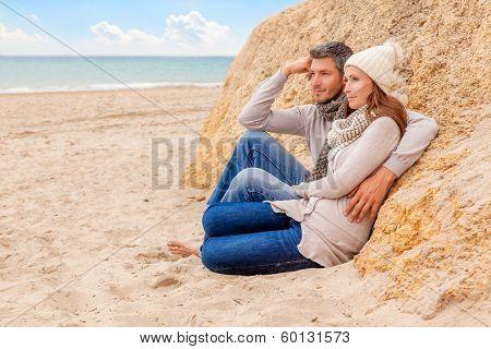 sitting together getting older on coast