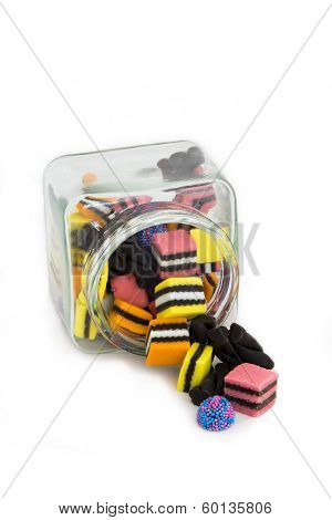 Licorice Allsorts in a Jar - top view