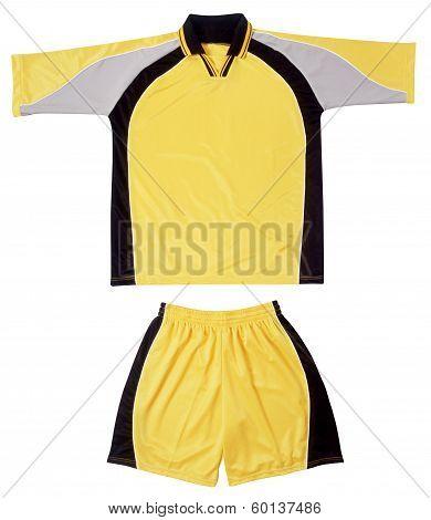 Grey, Black Yellow Sports Uniform