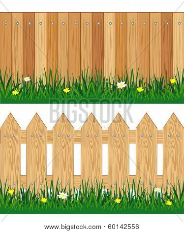Two fences from tree