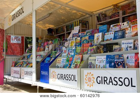 Lisbon, Portugal. May 30, 2013: Lisbon Book Fair - Feira do Livro de Lisboa, held in Eduardo VII Park. The largest book-fair in Portugal.