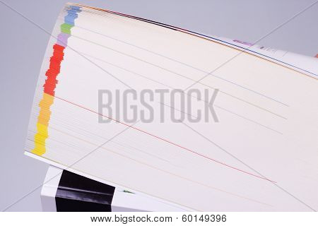 Catalogue With Colored Pages