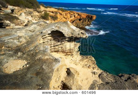 Rock Formation Over Ocean