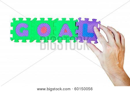 Women Hold L Alphabet Add To Goal Word