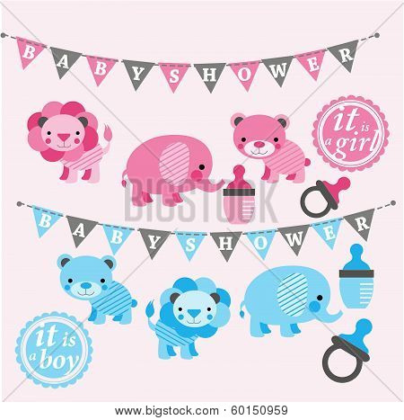 Baby Shower Elements Clip Art