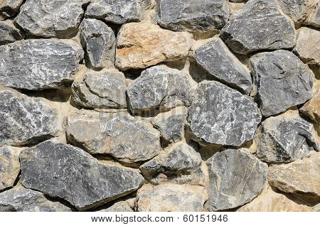 Big Stone Wall Surface, Background Of Decorate