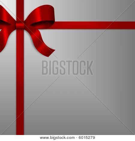 Red Gift Bow Multifunktionsleiste auf Silber