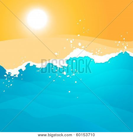 Background With Sea Waves