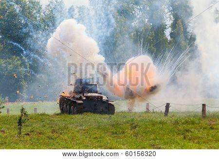 WW2 German Panzer 38 (t) light tank