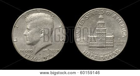 Coin of USA with image of J.F.Kennedy
