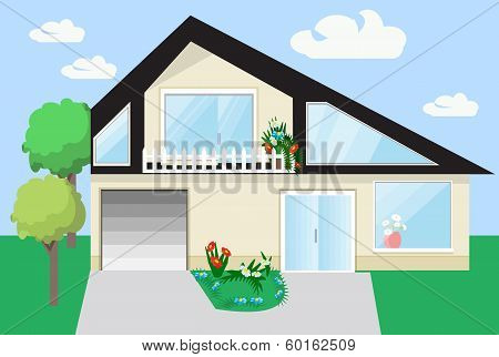 flat home exterior