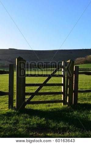 Countryside gate.