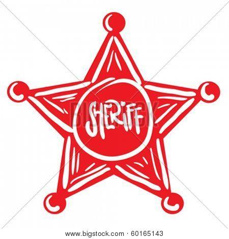 sheriff star cartoon doodle