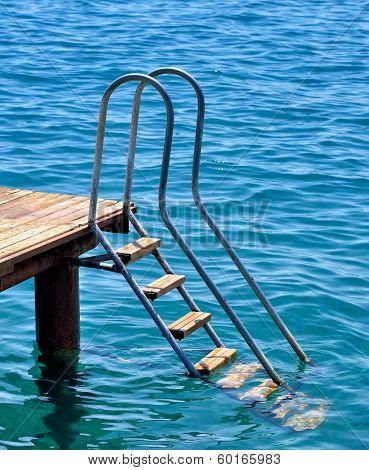 old ladder pier