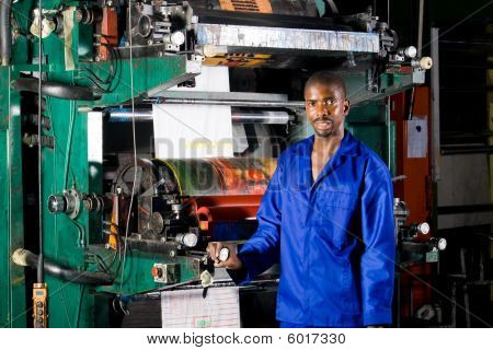 Printing press operator